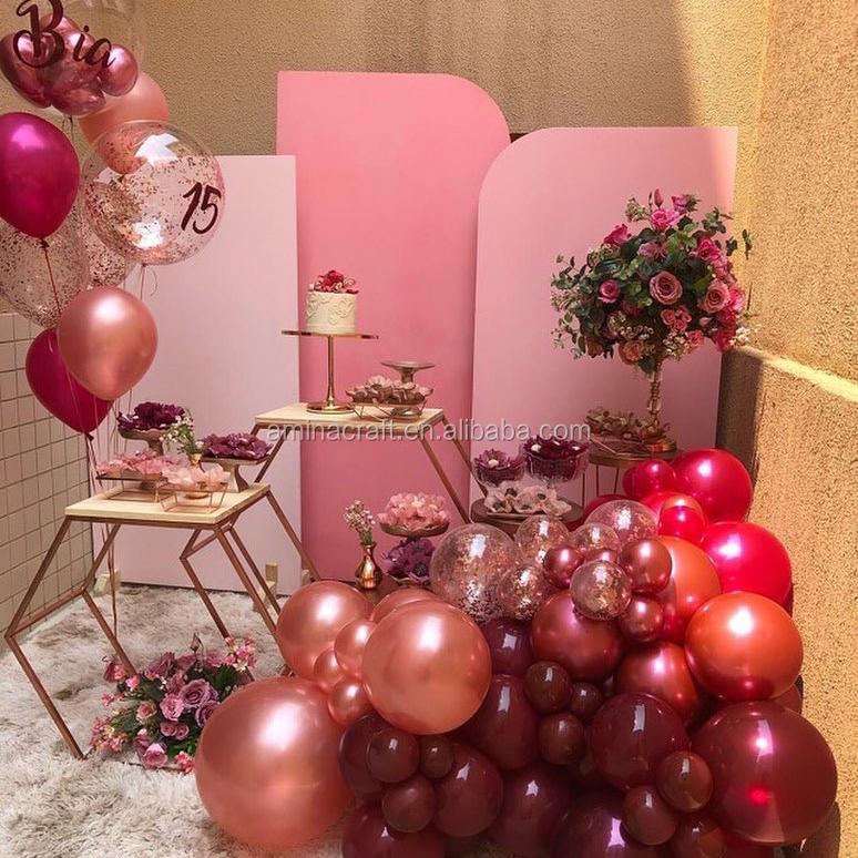 Amina Craft Industrial Wedding Party Color Pvc Board Arch Panel Acrylic Wedding Backdrop For Wedding Decoration