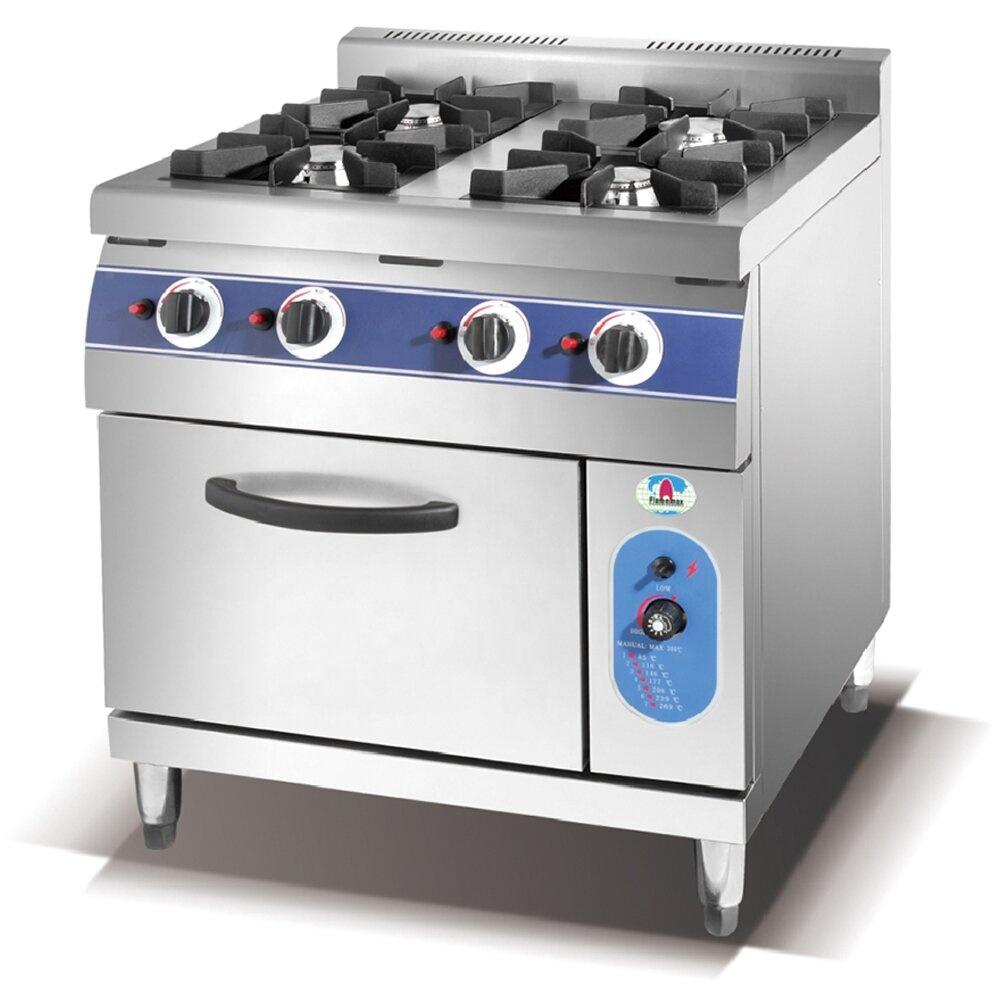 HGR-96E Commercial Freestanding Italian 6-burner gas range with electric oven