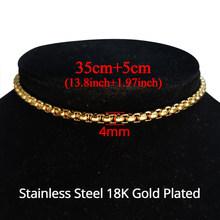 Хип-хоп, Мужская Толстая кубинская цепочка-чокер, ожерелье из нержавеющей стали золотого цвета, ювелирные изделия для женщин(Китай)