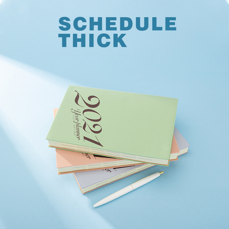 2021 календарь, блокнот A5, ручная учетная запись, небольшой эффективность, ручной ежемесячный планировщик с индивидуальным логотипом