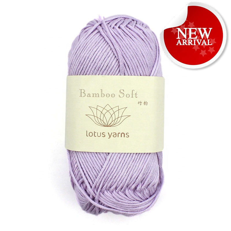 50g hank Fashion Wholesale Popular 100% Bamboo Cotton Yarn handknitting yarn  multi color for baby