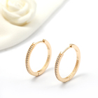 14k Gold Hoop Earrings Earrings 14k Hoop Earrings Hot Selling 14K Gold Plated Inlaid Round Shape Multi Sizes Hoop Earrings