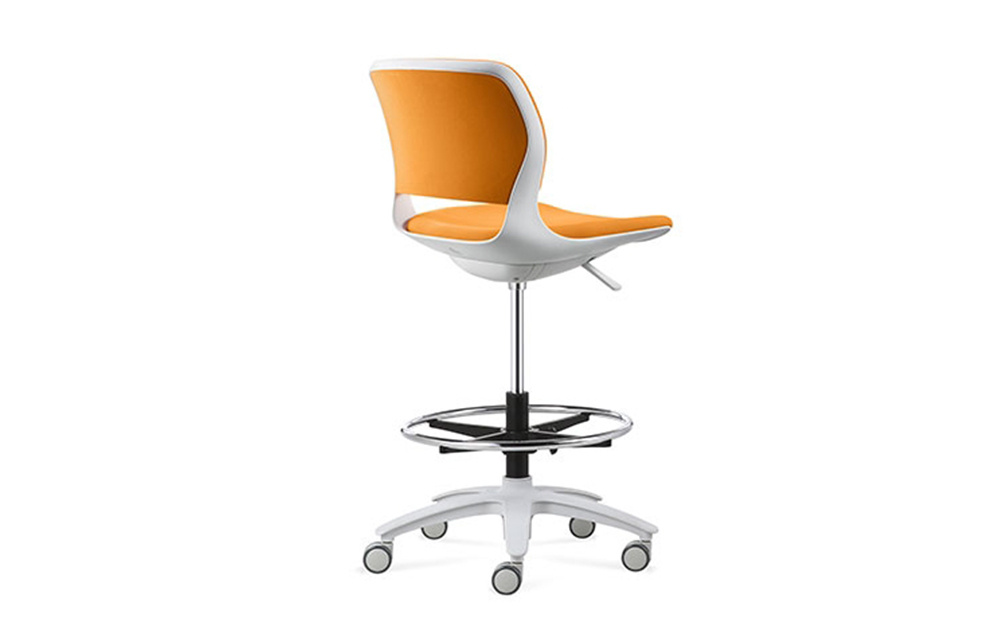 PU leather and soft cushion medical dental assistant stool laboratory stool