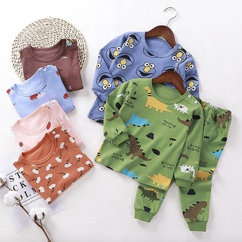 Wholesale Baby Clothes set long Sleeve T-shirt and Pants 2 pieces Underwear Clothes Suits