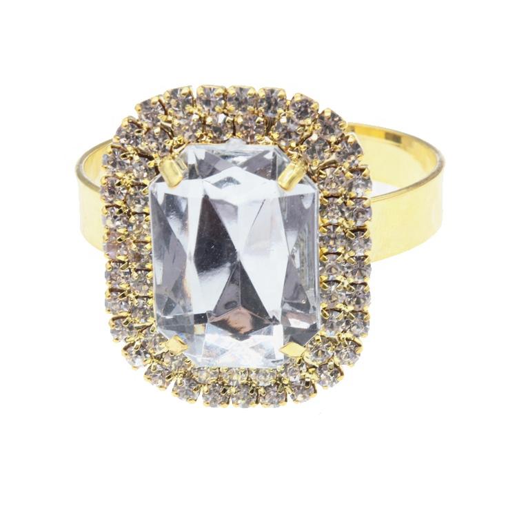 Высококачественное кольцо для салфеток с кристаллами для свадьбы