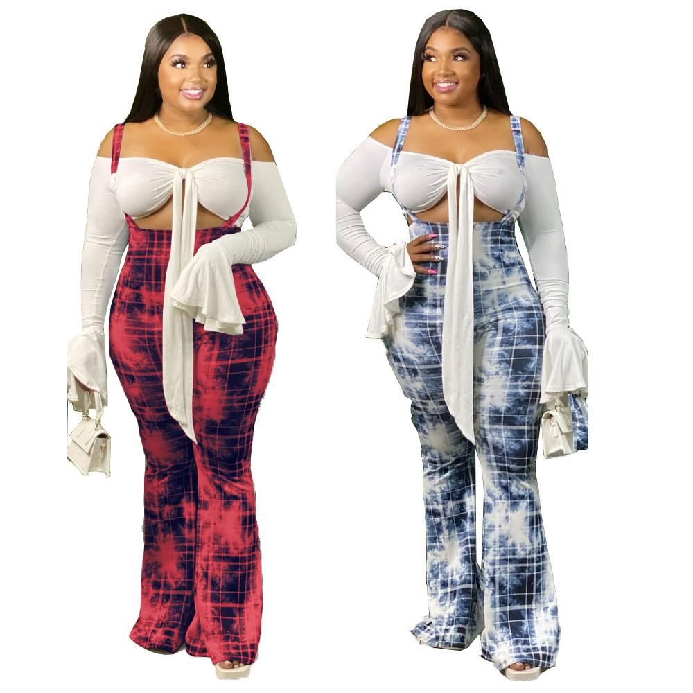 Suelto Casual Cuadros Mono Pantalones Para Senoras Gordas Ropa De Otono 2020 De Moda Para Mujeres Plus Tamano Mono 3xl 4xl Buy Mas Tamano Mono Product On Alibaba Com