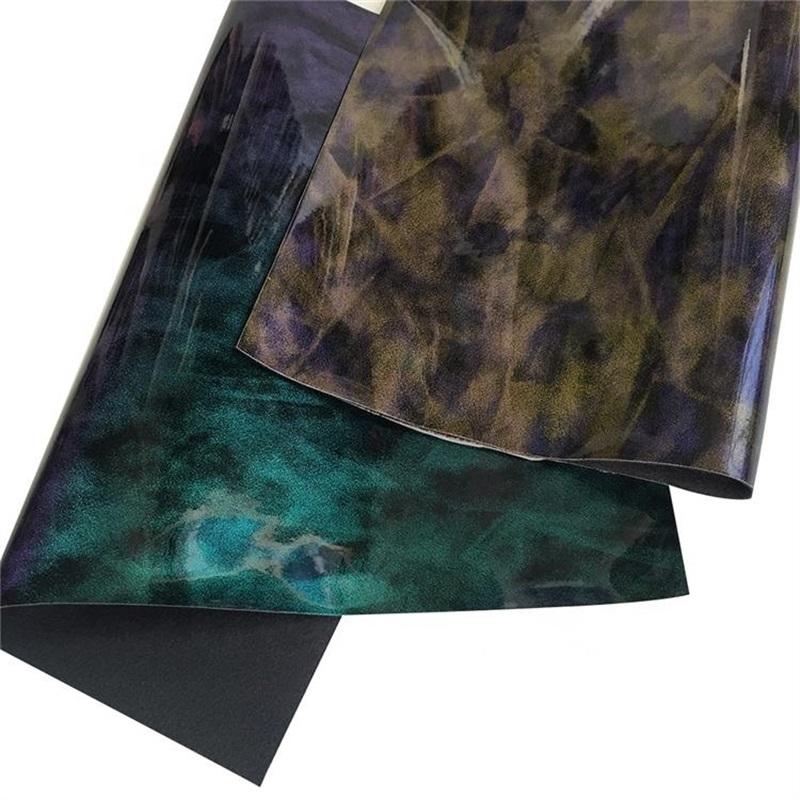 2019 latest shiny surface glitter leather pu glitter vinyl fabric