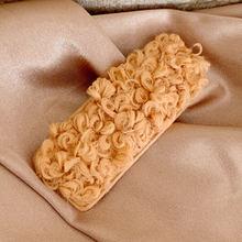 1 шт. заколки для волос карамельного цвета квадратные кудрявые пушистые плюшевые заколки BB заколки для волос для женщин и девочек милые аксе...(Китай)