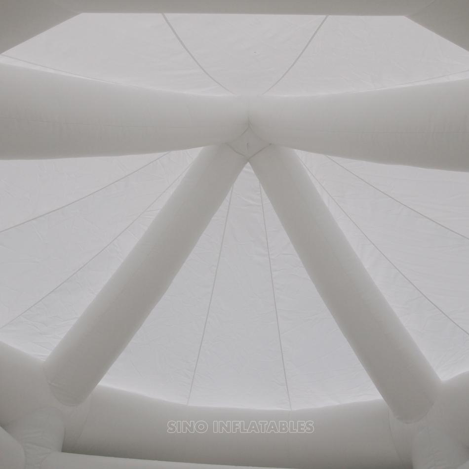 Коммерческие взрослые свадьбы белый батут замок для свадебных вечеринок с верхней крышей от надувной фабрики Guangzhou