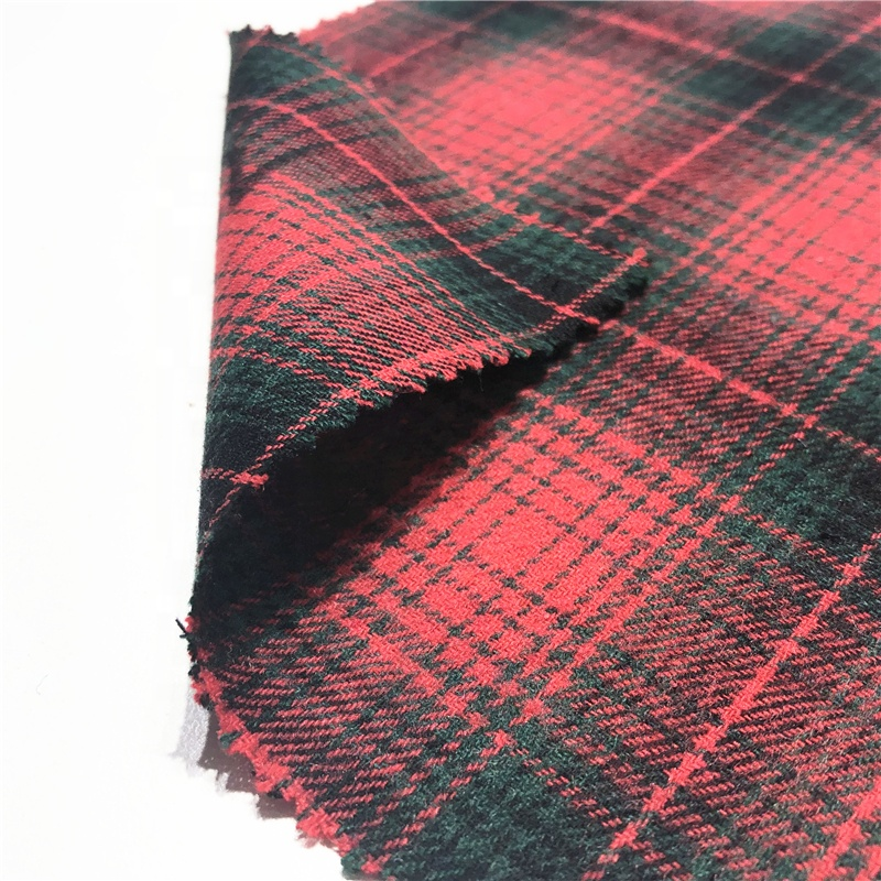 Клетчатая фланелевая рубашка, 100% переработанный хлопок, красная клетчатая ткань