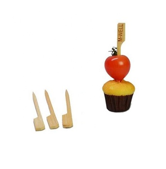 Chicken Yakitori 7Cm Flat Bbq Bambu Handle Teppo Fruit Satay With Custom Logo Good Quality Bamboo Skewers