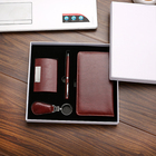 Corporate Corporate Gift Set Custom Customized Leather Company Corporate Business Card Holder Promotional Gifts Gift Set For Promotional Gifts