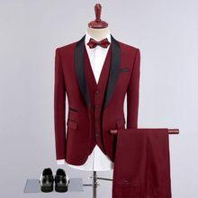 2020 элегантный роскошный мужской костюм свадебные платья для жениха новейший дизайн пальто брюки блейзер мужской классический 3 шт мужской ...(Китай)
