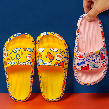Girl Shoes Kids Unisex Cartoon Slide Summer Outdoor Casual Children Slippers Children Flat Sandal Children Unisex Slipper