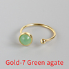 Gold-7 Green agate