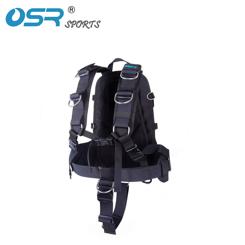 Scuba diving BCD technical diving soft harness to fit backmount wing 30lbs 25lbs with soft shoulder pad adjustable strap
