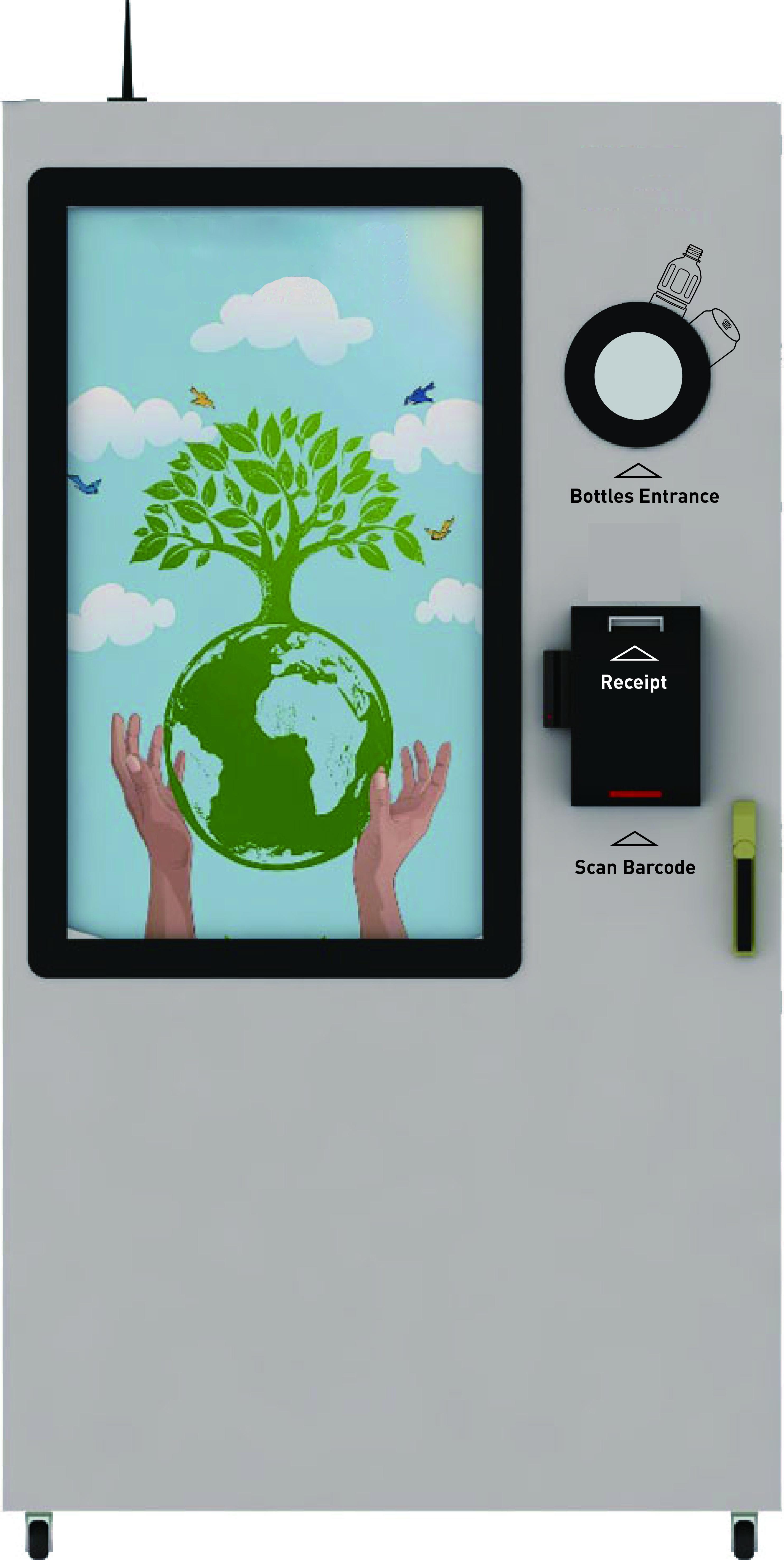 RVM -Reverse Vending Machine for plastic bottle and aluminum can