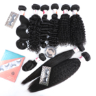 Wave Human Hair Kinky Curly Hair Wholesale 8A 10A Brazilian Straight Body Kinky Curly Water Deep Wave 100% Virgin Human Hair Bundles With Hd Lace Frontal Closure