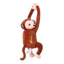 40 @ креативный тканевый футляр в виде симпатичной обезьянки нижнее белье Бумага салфетка чехол стильная футболка с изображением персонажей...(Китай)