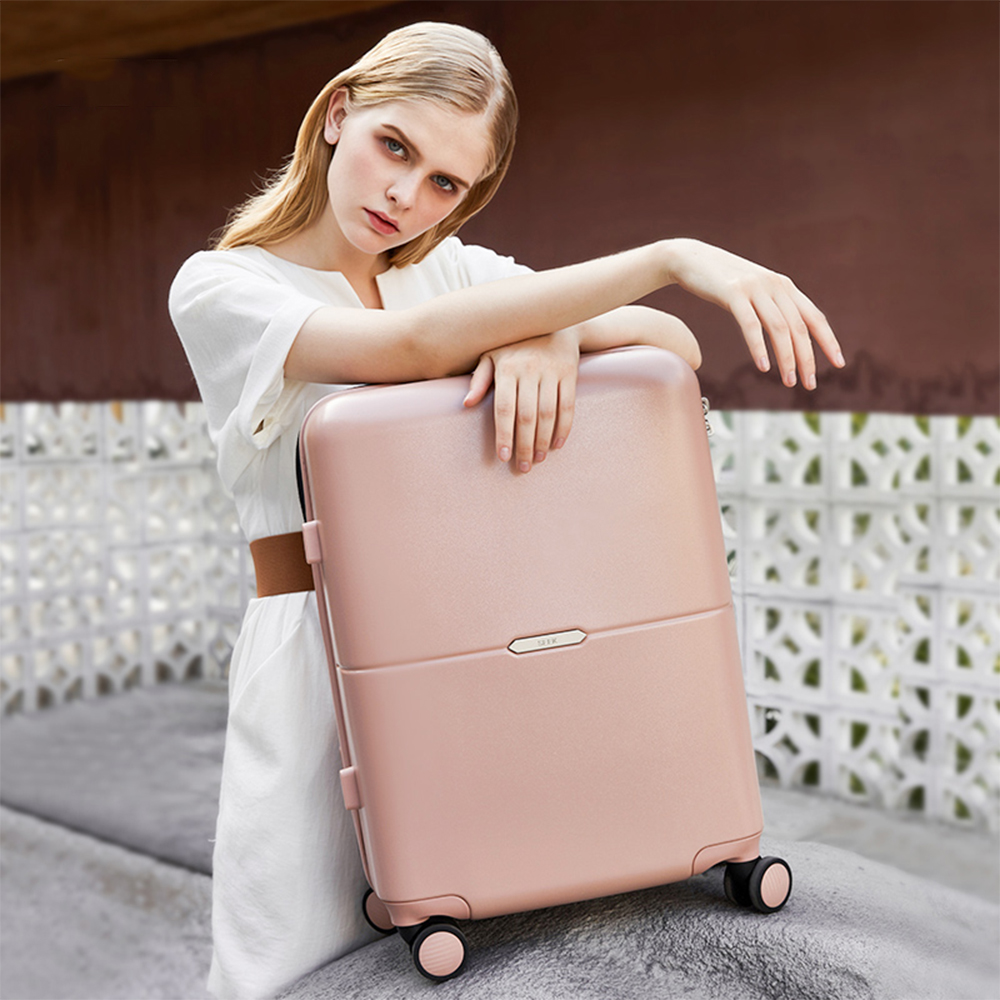 Seek 2021 New Arrivals Italy designers custom luxury carry on smart suitcase with usb port business travel trolley luggage