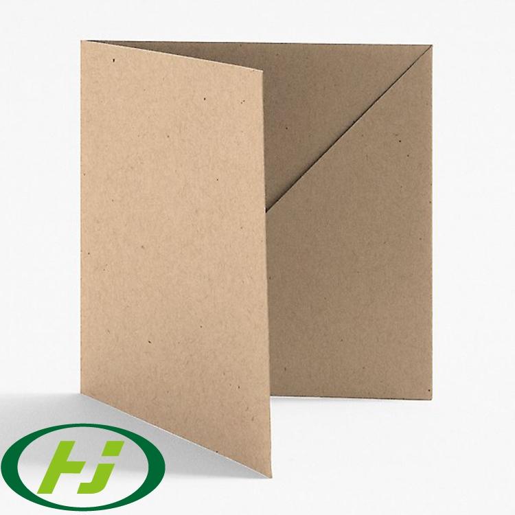 Папка для файлов формата А4 с карманом, белая, крафт-бумага и черные цвета на выбор