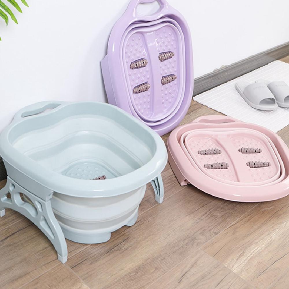 Portable Relax Foldable Soaking Bucket Bosin Bowl Pedicure Foot Massager Foot Spa Bath