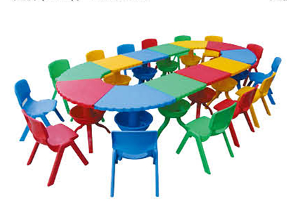 Primary School Tables and Chairs Set Primary School table Kids Furniture QX-193-195
