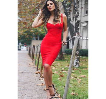 Formal Women Lady Elegant Sexy Shirt Mini Bodycon Spaghetti Strap Bandage Cocktail Party Dresses For Ladies