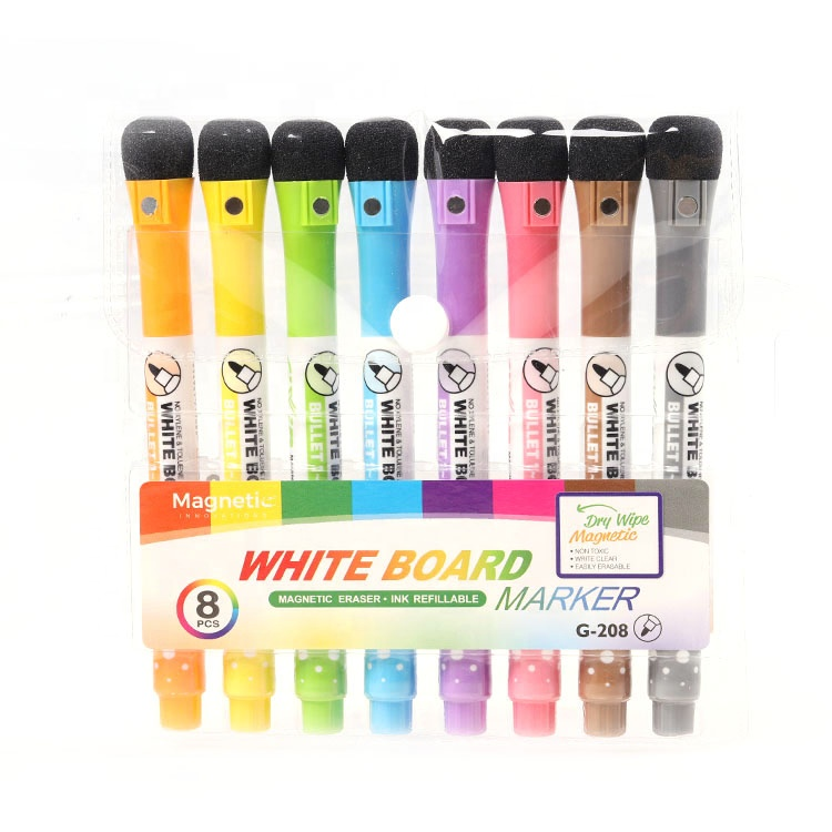 Custom Muti-color dry erase white board marker set with magnet and eraser - Yola WhiteBoard | szyola.net