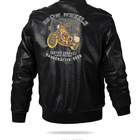 Leather Jackets Fashion Young Custom Embroidery Men'S Leather Jackets