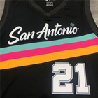 2021 Season San Antonio Basketball Jersey Parker #9 Derozan #10 Aldridge#12 GINOBILI#20 DUNCAN #21 Uniform Custom Logo Name