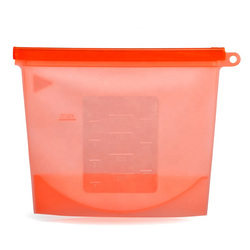 Zip Lock Top Container Vacuum Reusable Leakproof Freezer bags Silicone Airtight food Storage Bags