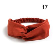 Женская замшевая повязка на голову, эластичная повязка на голову с бантом, спортивная повязка на голову для девочек(Китай)