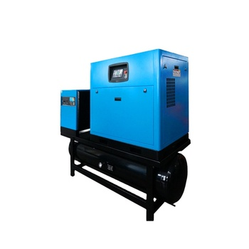 15KW 16bar screw air compressor with air dryer and air tank