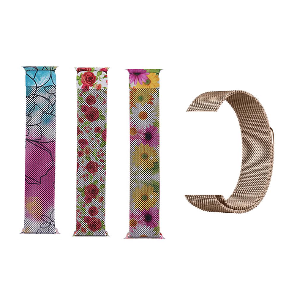 Best Selling Strap Magnetic Stainless Steel Metal Strap Milanese loop For apple Watch Series 4 5