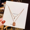 108 Rose gold necklaces