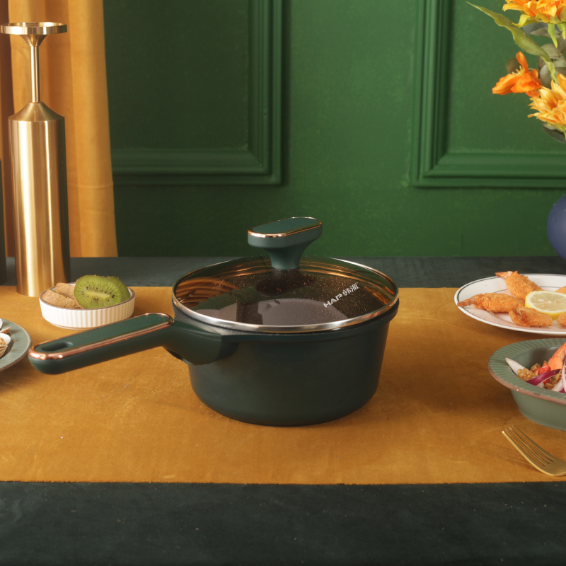 Оптовая продажа, рекламная Антипригарная посуда, металлическая молочная кастрюля, эмалированная мини-суповая кастрюля