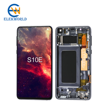 OEM OLED Screen for Samsung Galaxy S10E S10 Lite LCD SM-G970 OEM AMOLED Display Touch Screen With Frame Cellphone Repair Parts