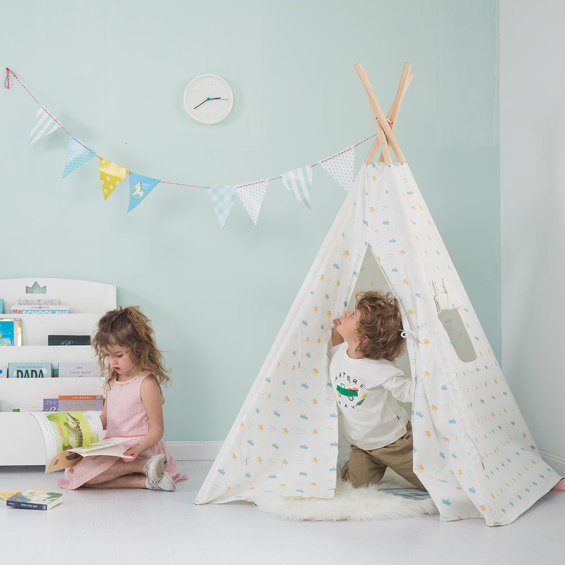 Custom Foldable Girls Teepee House Toy Kids Children Indoor Baby Play Tent with window