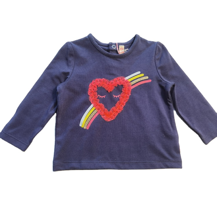 Fashion print mesh baby knitted cotton T shirts long sleeve knitted shirts clothes for children top