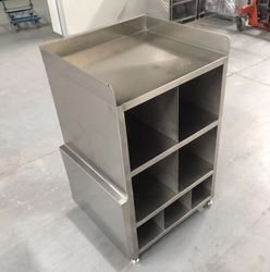 High-precision stainless steel welding and polishing service manufacturing metal office desk structure partition cabinet