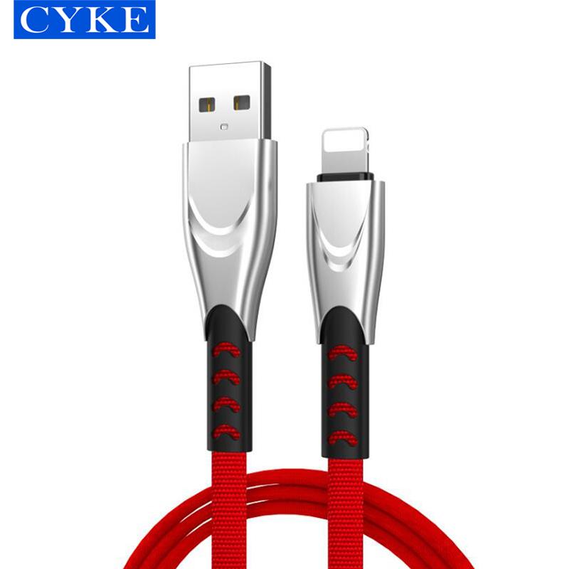 Кабель для передачи данных CYKE, быстрая зарядка, 1 м, зарядный кабель для мобильного телефона, тканевый плетеный кабель Micro Usb для IPhone