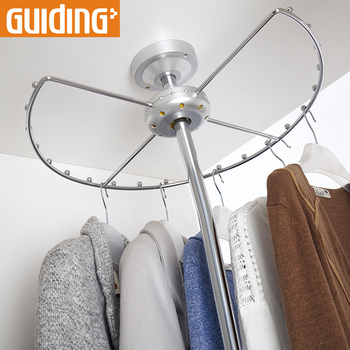 Extra Long Floor Standing Clothes Hanger Stand Rack Round Circular Standard White Clothes Hanger