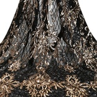 Upholstery 2021 Party Gown Upholstery Fabric Sequin Tulle Embroidery Beads For Wedding Dress