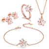 Rosa conjunto de joyas de oro