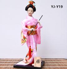 MYBLUE 12 дюймов Kawaii кимоно японской гейши кукла Японский дом декоративная фигурка украшение для дома аксессуары современный подарок(Китай)