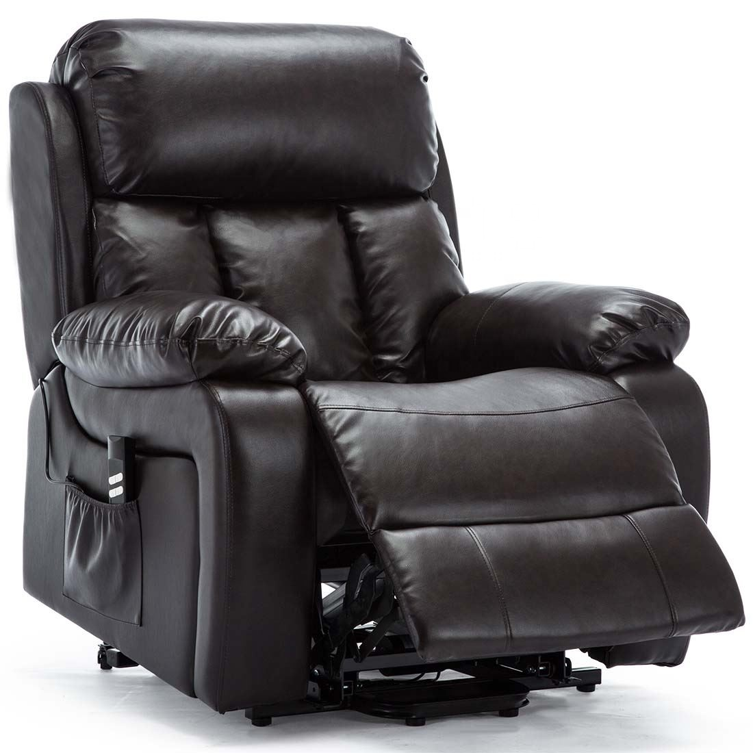 Factory Directly sales Dual Motor Riser Electric Leather Recliner Armchair Heated Massage chair