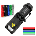 Q5 Torch Tactical Led Flashlight Super Bright AA Battery 3 Modes Tactical Small Mini Pocket Led Flashlight Dimmable Zoom Q5 Led Mini Torch Light For Promotion