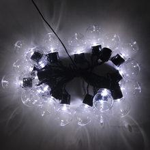 Солнечная Светодиодная лампа для сада 5 м 2,5 м, круглые лампы, светодиодная лампа для лужайки, водонепроницаемые лампы для патио, гирлянда дл...(Китай)
