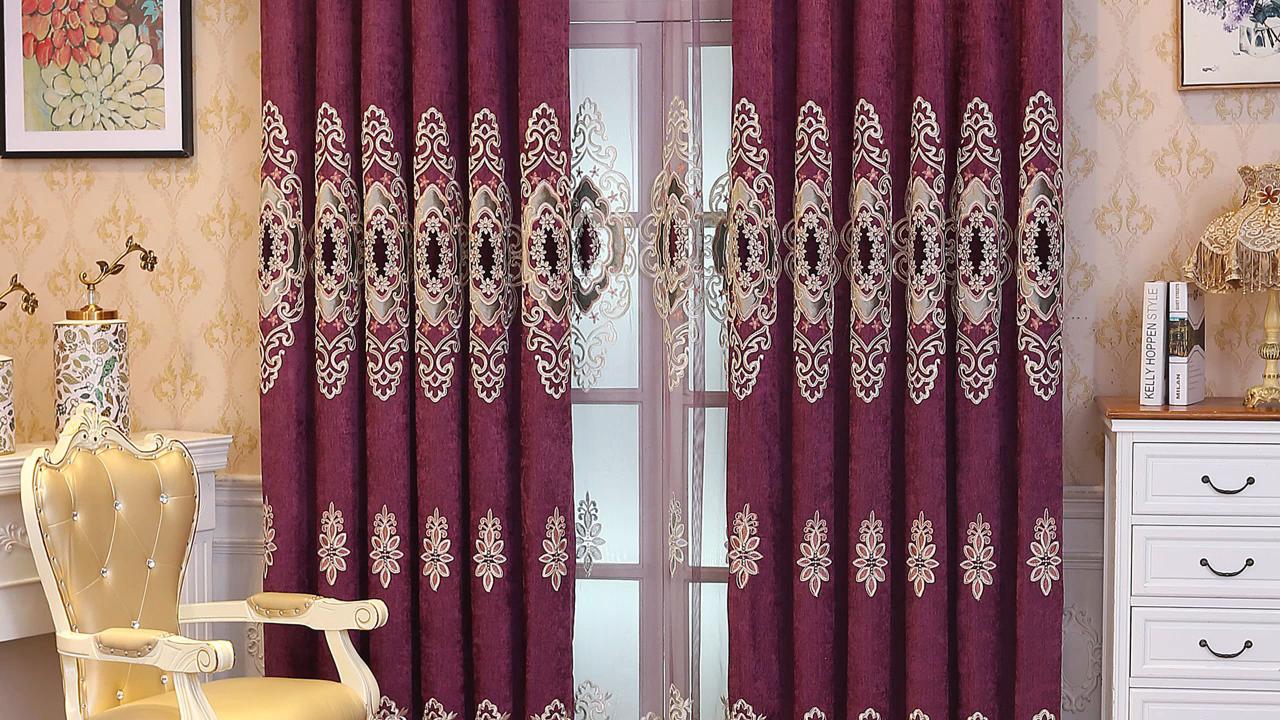 Роскошные жаккардовые затемняющие шторы с шумоподавлением для гостиной, дизайнерские занавески для гостиниц, оптовая продажа, оконные шторы с балдахином
